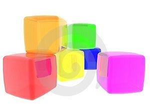 Diversity Cubes Royalty Free Stock Image - Image: 10048466