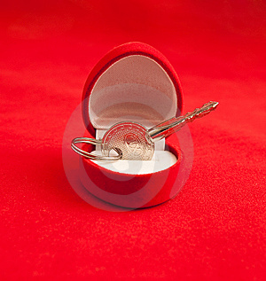 Small Silver Key In A Box Royalty Free Stock Photo - Image: 10051175