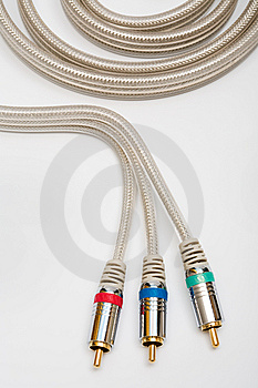 Component Video Cable Royalty Free Stock Photography - Image: 10051437