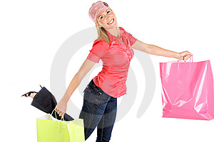 Girl Shopping Royalty Free Stock Images - Image: 10053179