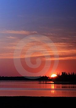 Blazing Sunset Royalty Free Stock Images - Image: 10053449