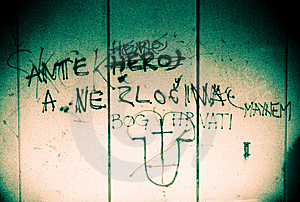 Grunge City Wall Stock Photography - Image: 10054842