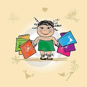 Shopaholic. Stock Photos - Image: 10056223