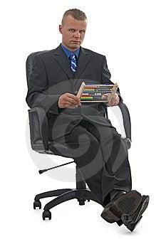 Quantifying Businessman. Stock Images - Image: 10057414