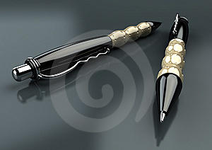 Pens Closeup Royalty Free Stock Photography - Image: 10057727