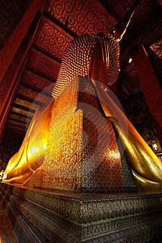 Head Of Giant Sleeping Buddha Statue Stock Image - Image: 10058931