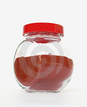 Red Pepper Salt In A Jar. Royalty Free Stock Photo - Image: 10059525