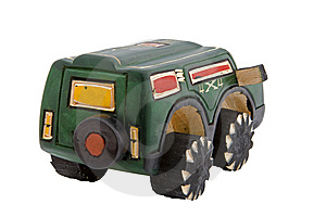 Wooden Toy SUV Stock Photos - Image: 10059583