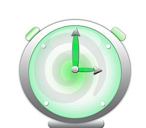 Green Clock Royalty Free Stock Photos - Image: 10061088