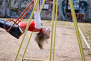 Girl On Swing Royalty Free Stock Photos - Image: 10061688