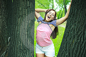 Excited Girl Stock Photos - Image: 10061853