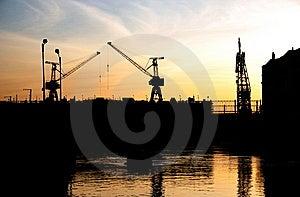 Portal Cranes. Stock Images - Image: 10062734
