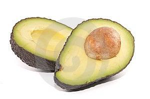 Avocado Cut In Half Stock Photo - Image: 10064350