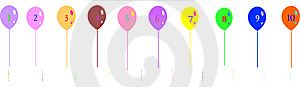 Balloon With Numbers Royalty Free Stock Photography - Image: 10065367