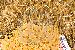 Macaroni, Noodles, Wheat Ears. Stock Photo - Image: 10065960