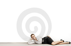 Happy Relaxed Businesswoman Stock Photography - Image: 10067562