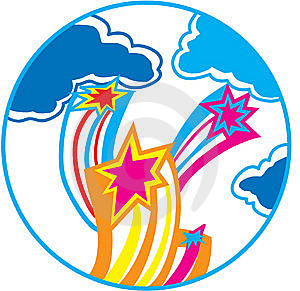 Three Stars Royalty Free Stock Photos - Image: 10067648