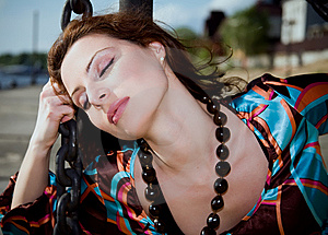 Woman Shackled In Chains Royalty Free Stock Photos - Image: 10068998