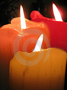 3 Candles Royalty Free Stock Photography - Image: 10070077