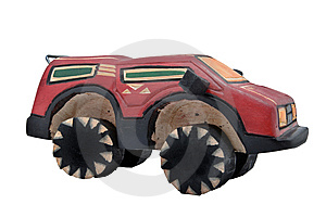 Wooden Toy SUV Royalty Free Stock Photography - Image: 10070147