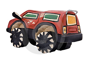 Wooden Toy SUV Stock Image - Image: 10070231