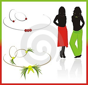Earrings And Necklace Stock Photography - Image: 10071402
