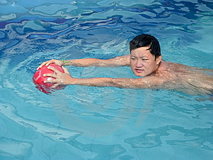 Young Man Fetching The Ball. Stock Photos - Image: 10071663
