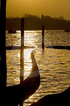 Gondola Rostrum In Sunlight Stock Photo - Image: 10074120