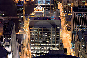 Chicago Night Streets Royalty Free Stock Photos - Image: 10076858