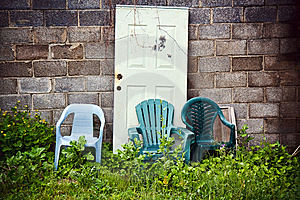 Plastic Chairs Royalty Free Stock Image - Image: 10077296