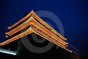Xian Drum Tower Stock Image - Image: 10077521