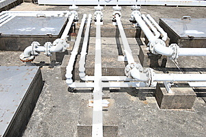 Building Rooftop Pipelines Stock Images - Image: 10077914