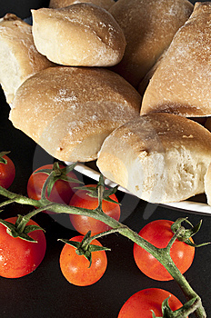 Tomatos And Breads Stock Photos - Image: 10078533
