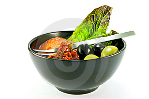 Salad Bowl And Fork Royalty Free Stock Photos - Image: 10079358