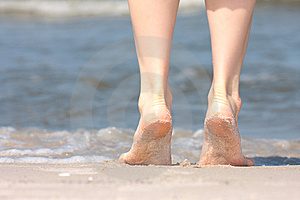 Nice Legs In Water Stock Image - Image: 10080611