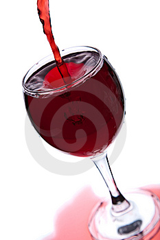 Red Wine Pouring Into Glass Isolated Royalty Free Stock Photos - Image: 10080918