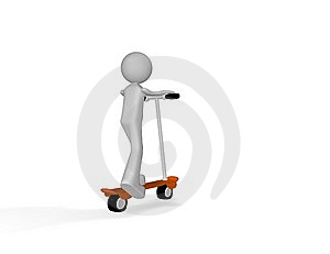 Turn In Scooter Royalty Free Stock Photography - Image: 10081947