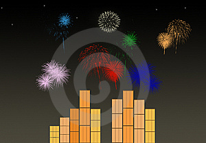 Colorful Fireworks Stock Images - Image: 10085364