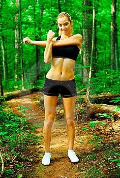Blonde Woman Exercising Royalty Free Stock Image - Image: 10085966