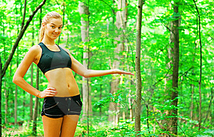 Blonde Woman Exercising Stock Image - Image: 10086671
