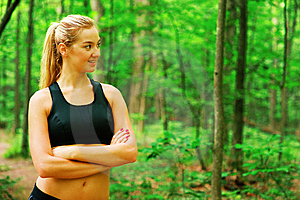 Blonde Woman Exercising Royalty Free Stock Image - Image: 10086686