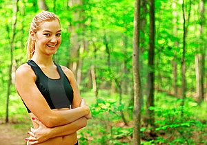Blonde Woman Exercising Royalty Free Stock Photo - Image: 10086695