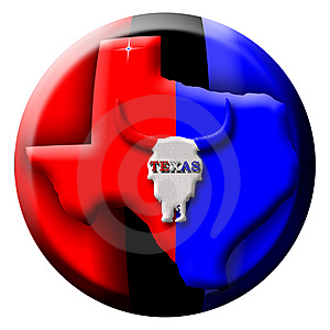Texas Button Royalty Free Stock Photo - Image: 10090905
