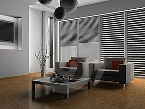 Living Room Stock Image - Image: 10091831