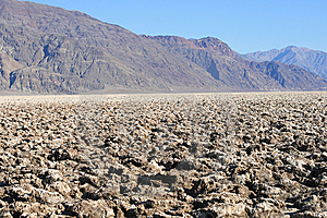Devil's Golf Course, Death Valley, California Stock Photography - Image: 10093862