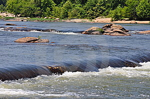 Small Waterfall On The River Royalty Free Stock Photography - Image: 10094457