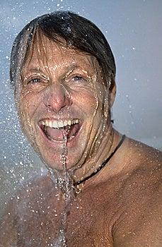 Man Showering Stock Photo - Image: 10094660