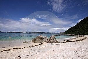Sunny Sky Over Tropical Beach In Okinawa, Japan Stock Photos - Image: 10095963