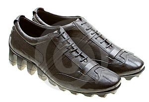 Black Sport Shoes Isolated On White Royalty Free Stock Photo - Image: 10096545