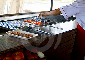 Kebab Cooking Stock Photo - Image: 10097780